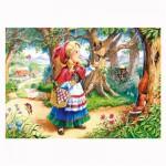 Puzzle 120 pièces : Le petit chaperon rouge dans la forêt