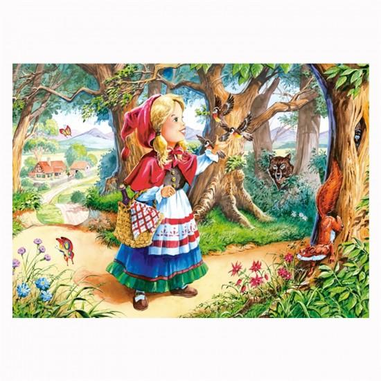 Puzzle 120 pièces : Le petit chaperon rouge dans la forêt - Castorland-12770