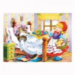 Puzzle 120 pièces : Le petit chaperon rouge et le loup