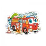 Puzzle 15 pièces : Camion de pompiers