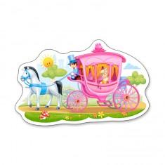 Puzzle 15 pièces : Princesse dans son carrosse