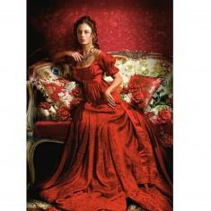 Puzzle 1500 pièces : Femme en rouge