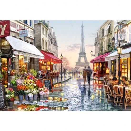 Puzzle 1500 pièces : Fleuriste à Paris - Castorland-151288