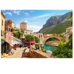 Puzzle 1500 pièces : La vieille ville de Mostar, Bosnie-Herzégovine