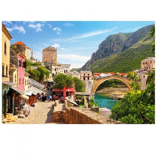 Puzzle 1500 pièces : La vieille ville de Mostar, Bosnie-Herzégovine - Castorland-151387-2