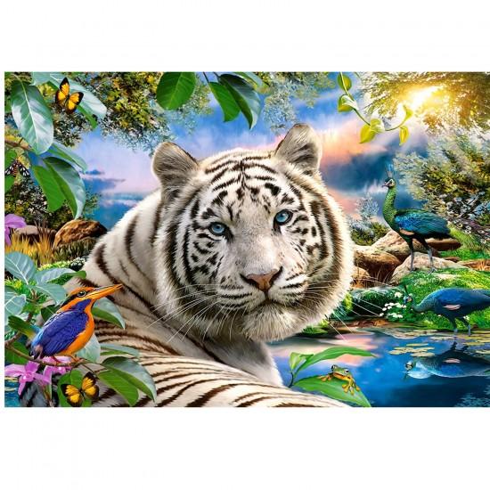 Puzzle 1500 pièces : Le tigre blanc - Castorland-151318-2