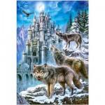 Puzzle 1500 pièces : Loups devant le château