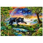 Puzzle 1500 pièces : Panthère noire