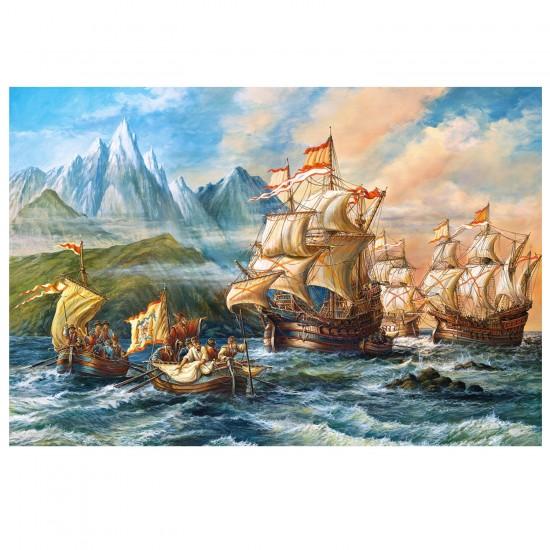 Puzzle 1500 pièces : Vers de nouvelles aventures - Castorland-151349-2