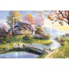 Puzzle 1500 pièces - Cottage enchanteur