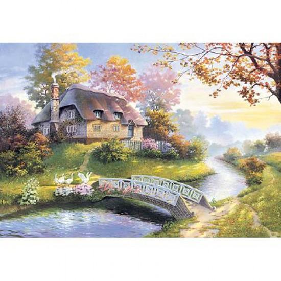 Puzzle 1500 pièces - Cottage enchanteur - Castorland-150359