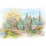 Puzzle 1500 pièces - La ville de Zaanse Schans