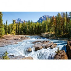 Puzzle 1500 pièces - Rivière Athabasca, parc national de Jasper : Canada