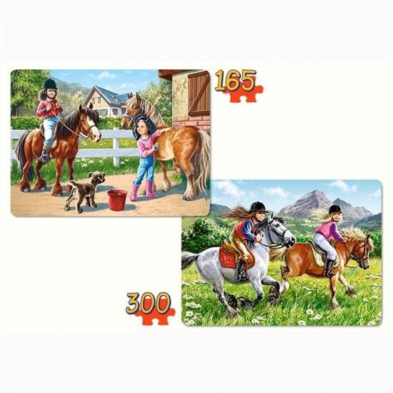 Puzzle 165 et 300 pièces : Chevauchées - Castorland-021079