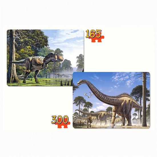 Puzzle 165 et 300 pièces : Dinosaures - Castorland-021147