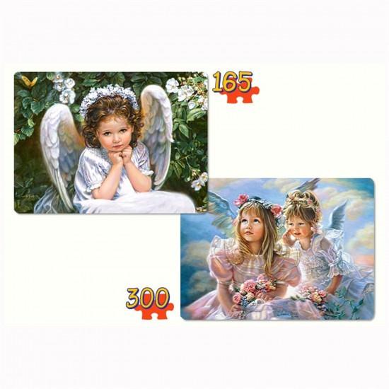 Puzzle 165 et 300 pièces : Doux anges - Castorland-021093