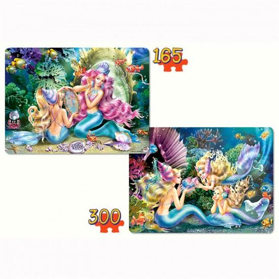 Puzzle 165 et 300 pièces : Jolies sirènes - Castorland-021109