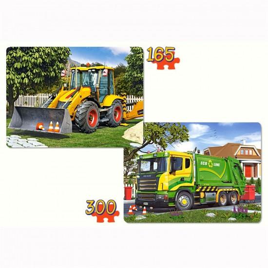 Puzzle 165 et 300 pièces : Véhicules de travail - Castorland-021130