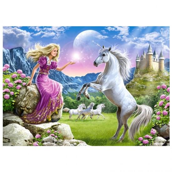 Puzzle 180 pièces : Mon amie la Licorne - Castorland-018024