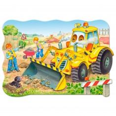 Puzzle 20 pièces maxi : Bulldozer en action