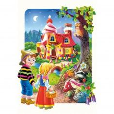 Puzzle 20 pièces maxi : Hansel et Gretel