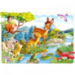 Puzzle 20 pièces maxi : Petit cerf