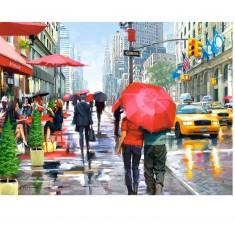 Puzzle 2000 pièces : A la terrasse d'un café New Yorkais