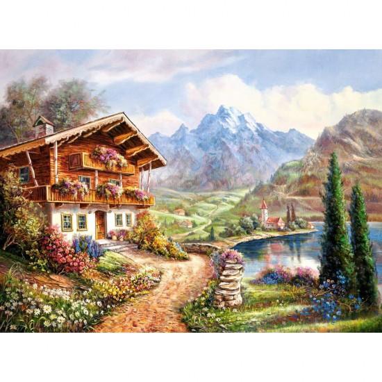 Puzzle 2000 pièces : High Country Retreat - Castorland-200511
