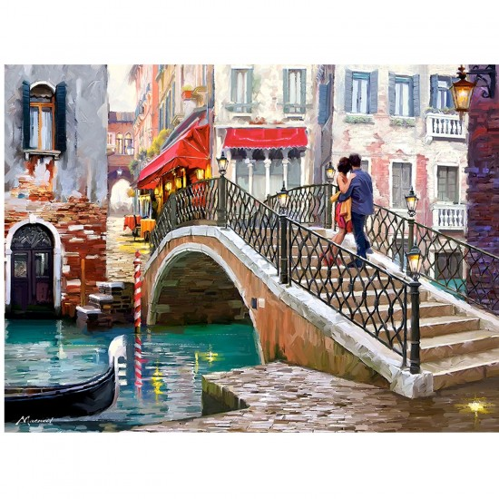Puzzle 2000 pièces : Pont à Venise, Italie - Castorland-200559-2
