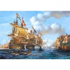 Puzzle 2000 pièces -  Bataille navale de Porto Bello 1739