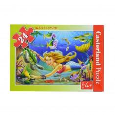 Puzzle 24 pièces : La petite sirène