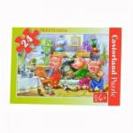 Puzzle 24 pièces : Les trois petits cochons