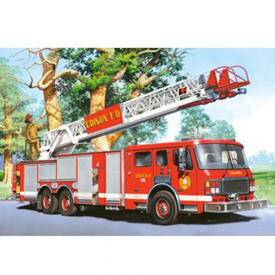 puzzle 24 pi ces mini puzzle camion de pompiers puzzle castorland rue des puzzles. Black Bedroom Furniture Sets. Home Design Ideas