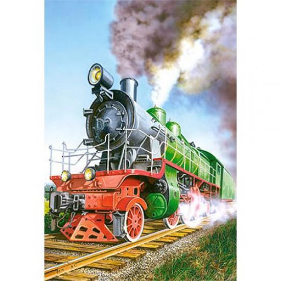 Puzzle 24 pièces - Mini puzzle : Locomotive à vapeur - Castorland-02405BM-5