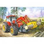 Puzzle 24 pièces - Mini puzzle : Tracteur rouge