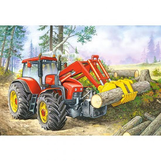 Puzzle 24 pièces - Mini puzzle : Tracteur rouge - Castorland-02405BM-2