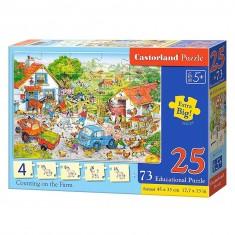 Puzzle 25 pièces + Puzzles éducatifs : Compter dans la ferme