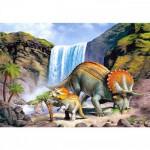 Puzzle 260 pièces : Famille de triceratops