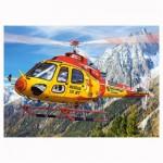 Puzzle 260 pièces : Hélicoptère de sauvetage en montagne
