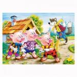 Puzzle 260 pièces : Les trois petits cochons