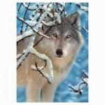 Puzzle 260 pièces : Loup dans la neige