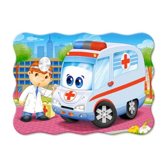 Puzzle 30 pièces : Ambulance et docteur - Castorland-03471-1
