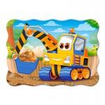 Puzzle 30 pièces : Excavatrice jaune