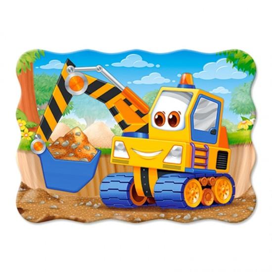 Puzzle 30 pièces : Excavatrice jaune - Castorland-03464-1
