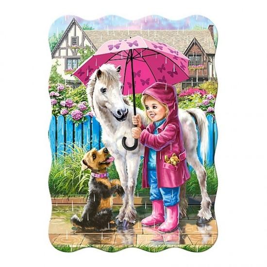 Puzzle 30 pièces : Jour de pluis avec les amis - Castorland-03426