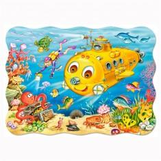 Puzzle 30 pièces : Joyeux sous-marin