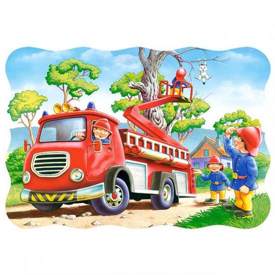 Puzzle 30 pièces : Le sauvetage du chat - Castorland-03358