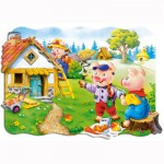 Puzzle 30 pièces : Les trois petits cochons