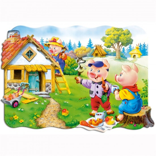 Puzzle 30 pièces : Les trois petits cochons - Castorland-03259