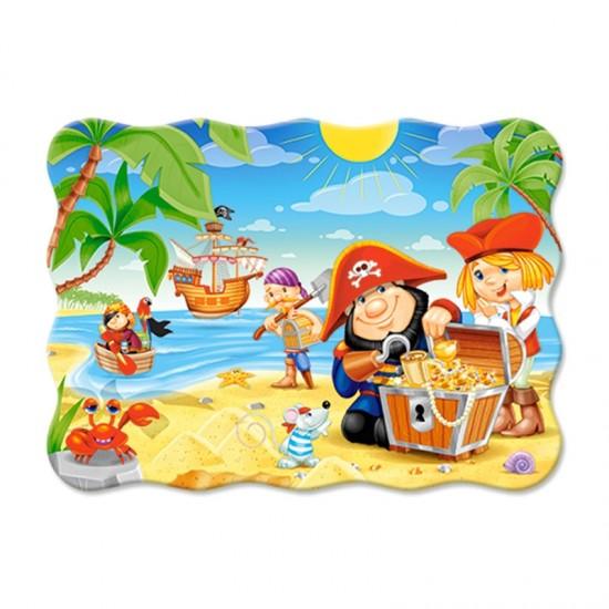 Puzzle 30 pièces : Trésors des pirates - Castorland-03488-1